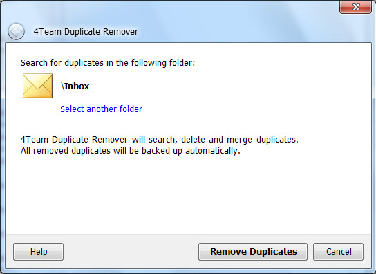 Download free Outlook Duplicate Remover by 4Team ...
